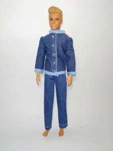 Джинсовий костюм для Кена Мінімен Dutunka