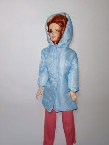 Пальто для ляльки Барбі Кольорове (вибір кольорів) Dutunka